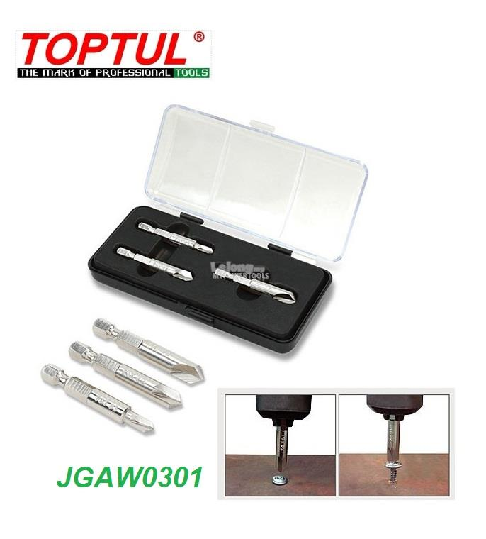 Toptul 3pcs Damaged Screw Remover Set.. Model JGAW0301  TOPTUL The Mar