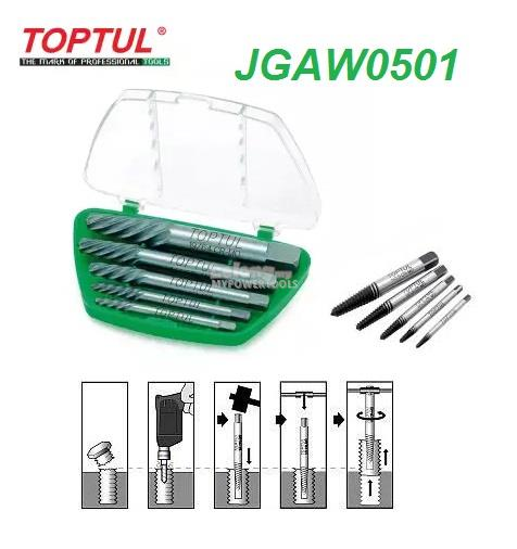 Toptul 5pcs Screw Extractor Set
