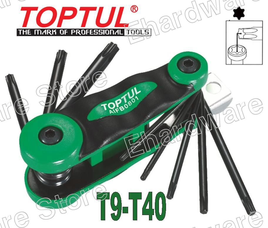 TOPTUL 8-IN-1 FOLDABLE STAR KEY WRENCH SET (AIFB0801)