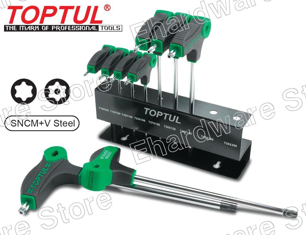 TOPTUL 9PCS T-TYPE 2WAY TORX KEY WRENCH ORGANIZATION SET (GAAX0901)