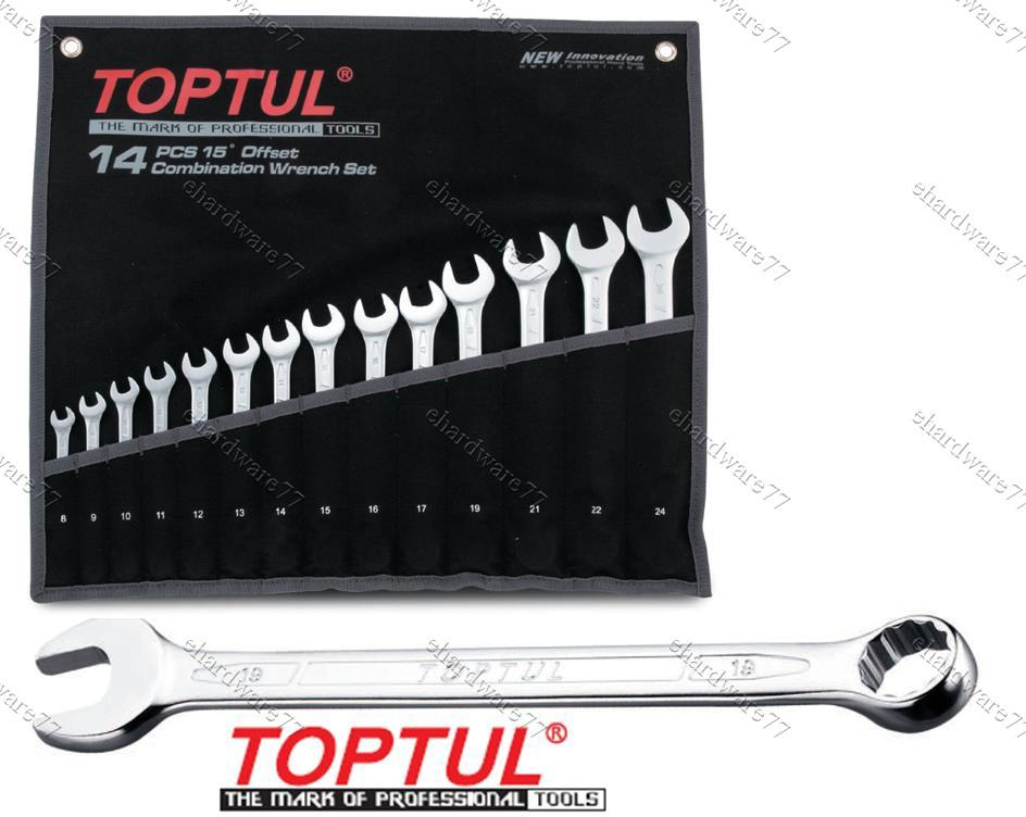 TOPTUL COMBINATION WRENCH SET 8-24MM (GPAB1404)