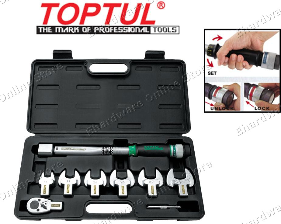 TOPTUL INTERCHANGEABLE SPANNER TORQUE WRENCH SET (GAAIOS) (OPEN STOCK)