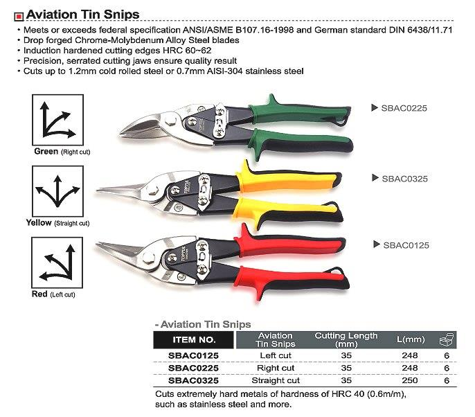 TOPTUL SBAC0225 Aviation Tin Snips
