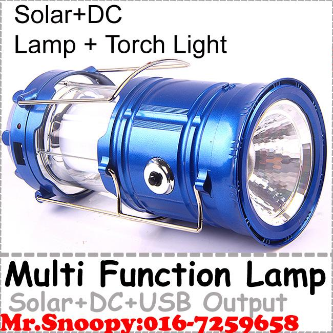 (With Torchlight) Solar Led Light Portable Multi FunctionTorch Light