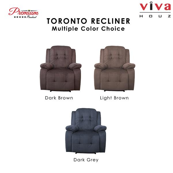 Toronto Single Seat Recliner Chair,Sofa,Full Fabric Cover(Light Brown)