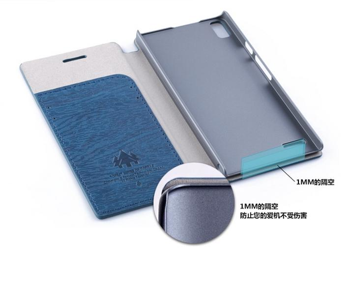 TORRAS Huawei P6 Flip Italy PU Leather Case + Free Screen Protector