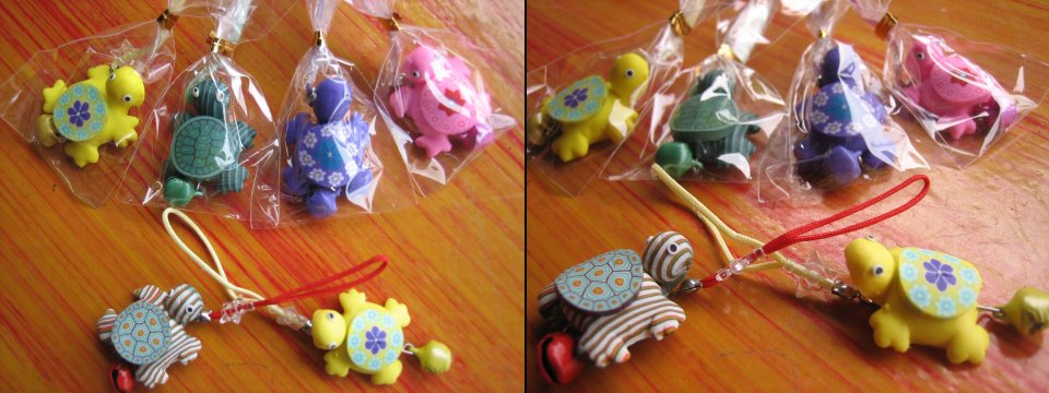 <B>TORTOISE DANGLING CHARMS HANDPHONE STRAP SUITABLE FOR GIFTS</B>