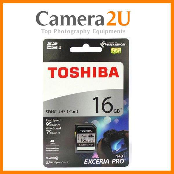 Toshiba 16GB SD Card EXCERIA™ PRO Memory card 95MB