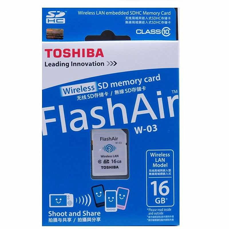 TOSHIBA 16GB SD CARD FLASH AIR W-03 WIRELESS LAN CLASS 10