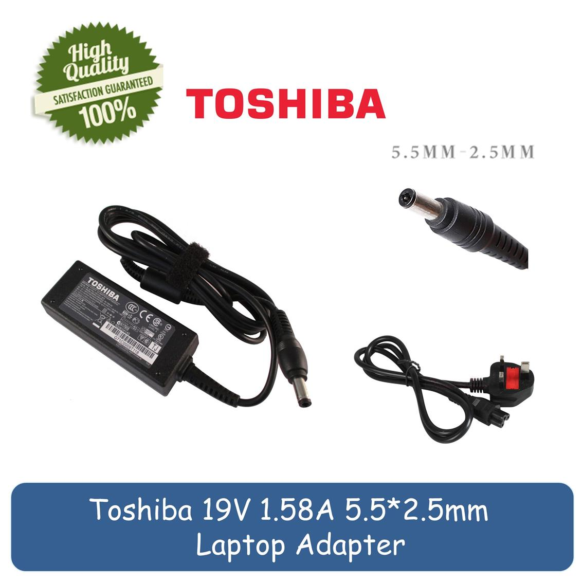 Toshiba 19V 1.58A NB255 W100 NB305 / Mini NB510 Laptop Charger Adapter