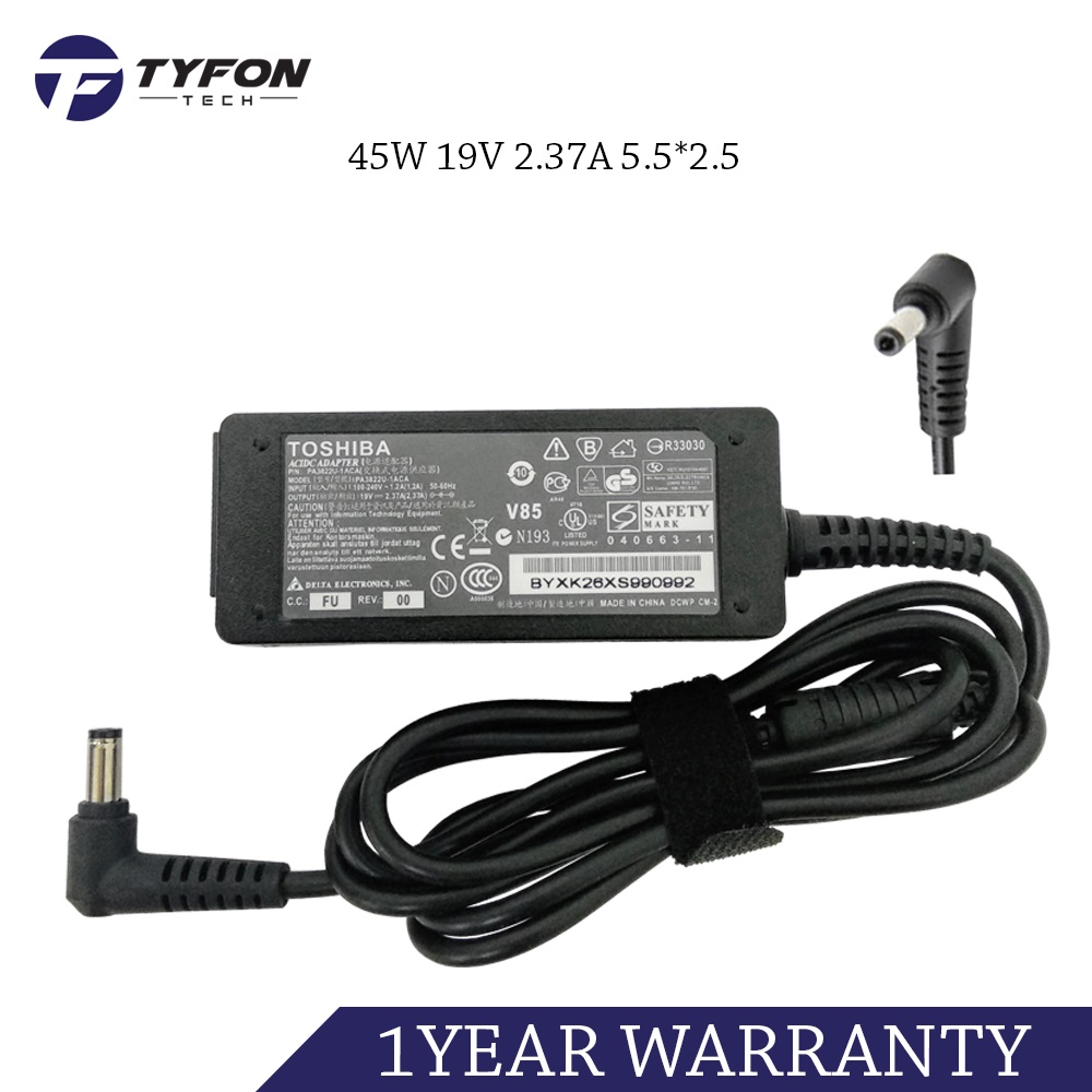 Toshiba Compatible Laptop Notebook AC Power Adapter 45W 19V 2.37A 5.5*
