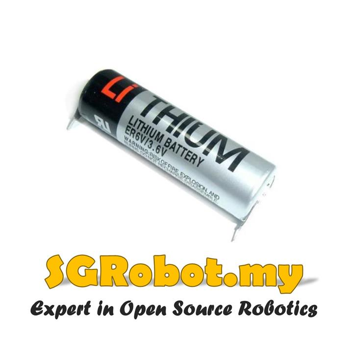 TOSHIBA ER6V 3.6V ER14500 Lithium PLC Battery With Solder Tabs