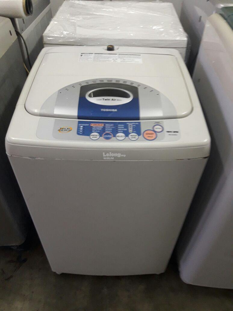 Toshiba Fully Auto Mesin Basuh Washing Machine Top Load Refurbish