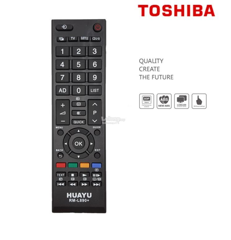 Toshiba LED/LCD TV Remote Control Multi Models RM-L890