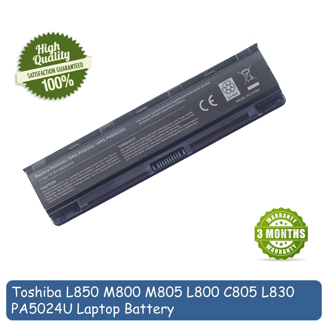 Toshiba Satellite L830 L840 L850 M830 M850 C805 C830 C840 C850 Battery