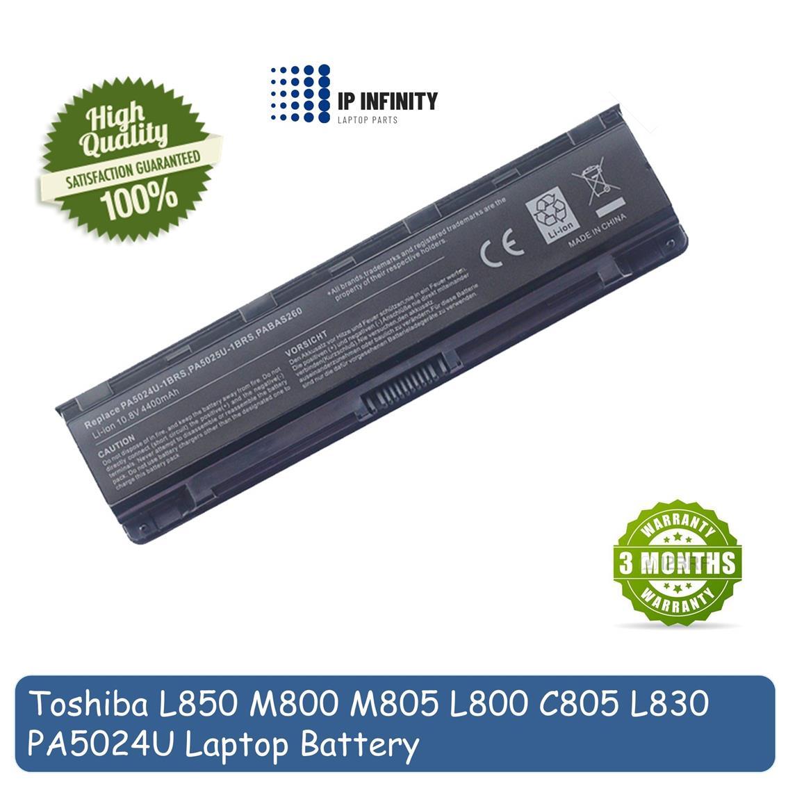 Toshiba Original Battery Satellite C800 L800 P800 S800 Pa5024 Baterai C800d C840 C840d C845 C870 L805 L830 L835 L840 L845 L850 M840 M805 M800 P870 S70 P845 Laptop