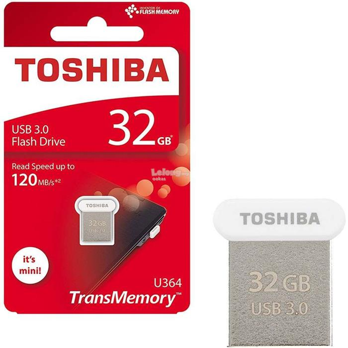 TOSHIBA U364 Nano Size USB 3.0 120MB/s Flash Drive Pen 32GB/64GB/128GB