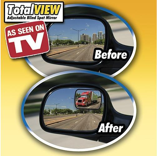 TOTAL VIEW MIRROR adjustable blind spot mirror car panoramic rear view
