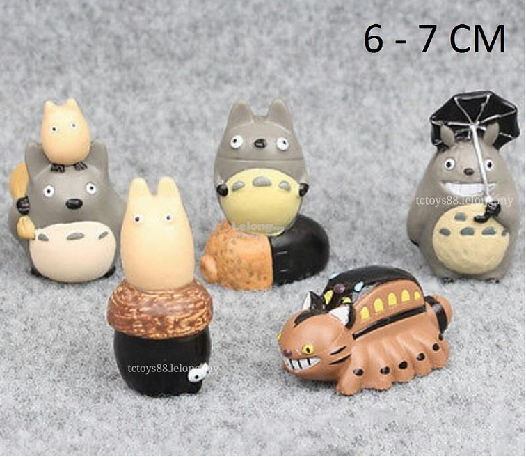 TOTORO Figurines Toy. My Neighbor Totoro Figures / Cake Topper. 5pcs