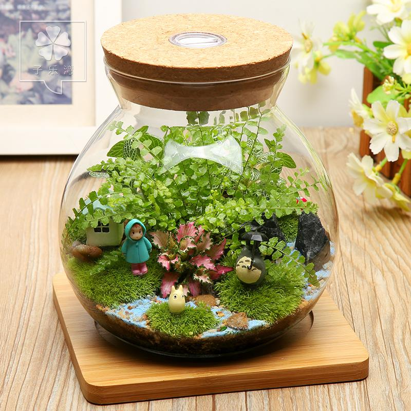 TOTORO MINI STATUE GIFT POTTED PLANT DECORATION BONSAI DECORATION