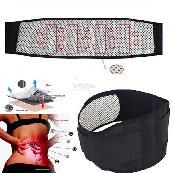 Tourmaline Self Heating Infrared Magnetic Therapy Back Support Brace L