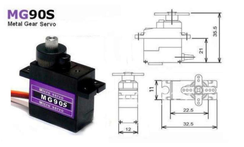 TowerPro MG90S Metal Gear Micro Servo-2pcs