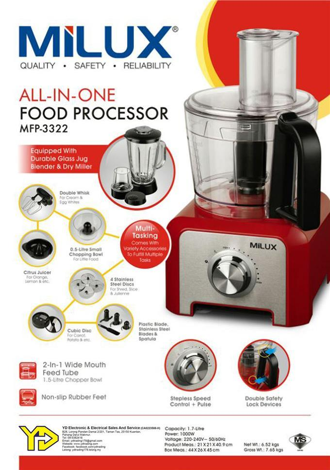 [Best In Town] Milux All In One Food Processor MFP-3322