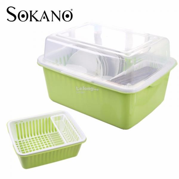 NON TOXIC DISH DRAINER WITH COVER EXTRA LARGE SIZE KITCHEN RACK