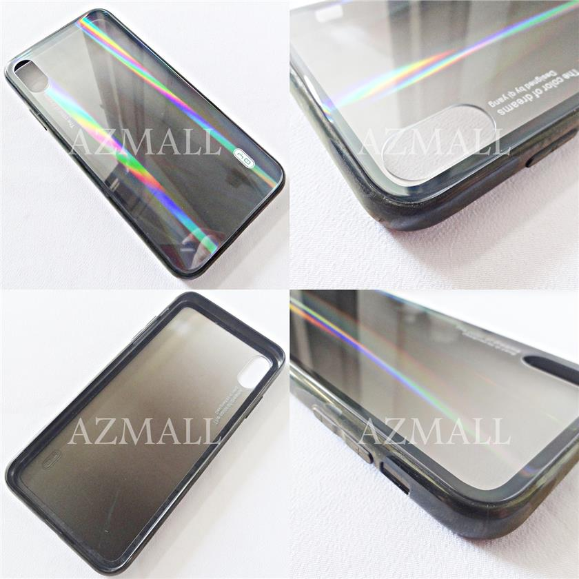 (Non-Toxic) QiYANG Aurora Safety Bumper Back Case Apple iPhone XS Max