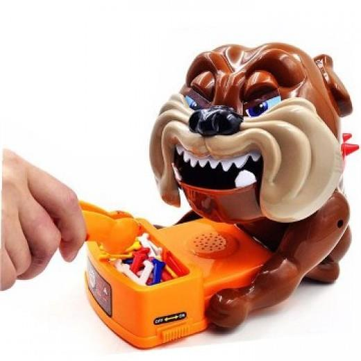 TOY BAD DOG GAME CAUTION Vicious Dog Stealing Bones