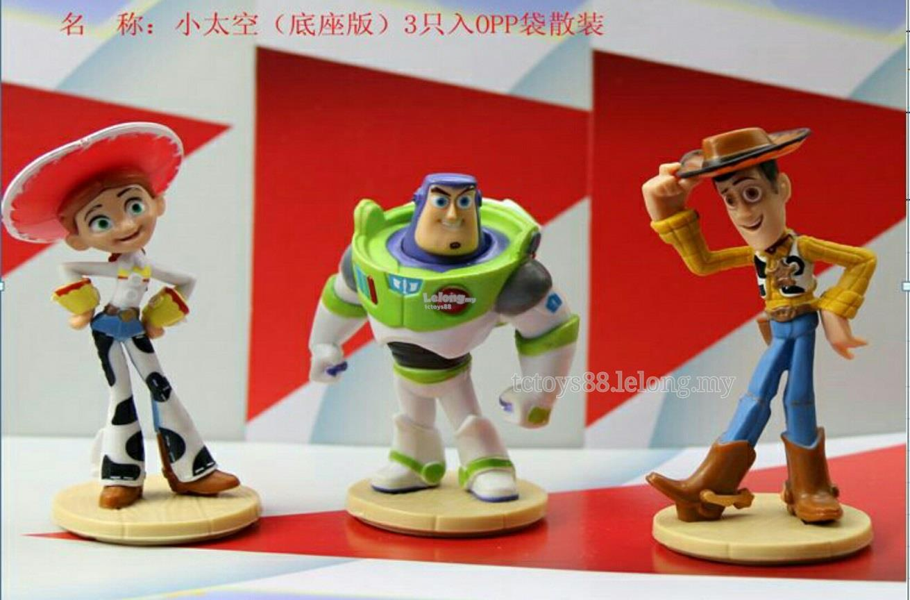 TOY STORY Figurine. Woody Buzz Jess Figure / Cake Topper. 3pcs set