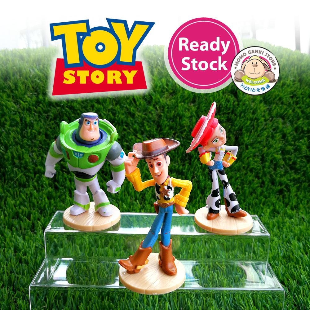 Toy Story Buzz Lightyear Woody Jessie 3 PCS Figure Cake Topper Figurine Gift Toy
