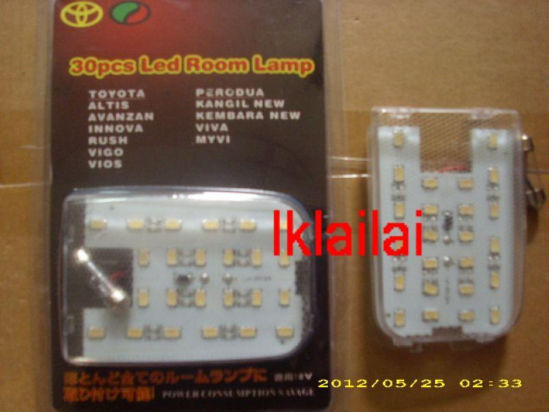 TOYOTA 30 LED Super White/Blue Room Lamp Myvi/Viva/Vios/Innova/Avanza