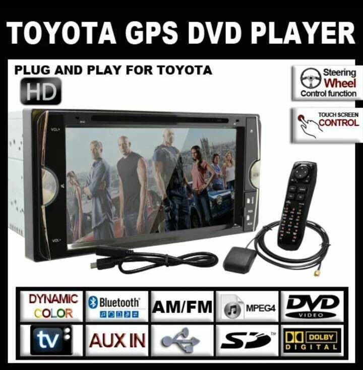 "Toyota 6.95"" double din gps , USB , Bluetooth  ( bomb harga !!! )"