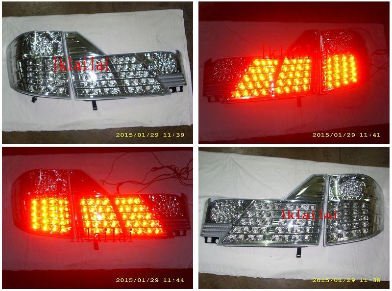 Toyota Alphard '02-'05 LED Tail Lamp Crystal Chrome (TY81-RL04C-U)