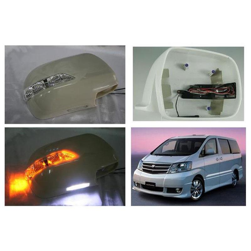 Toyota Alphard 02-05 Side Mirror Cover with LED Signal