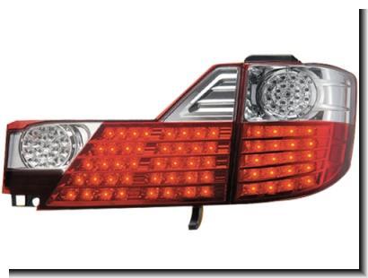 Toyota Alphard '06-07 Tail Lamp Crystal LED Clear/Red [TY81-RL05R