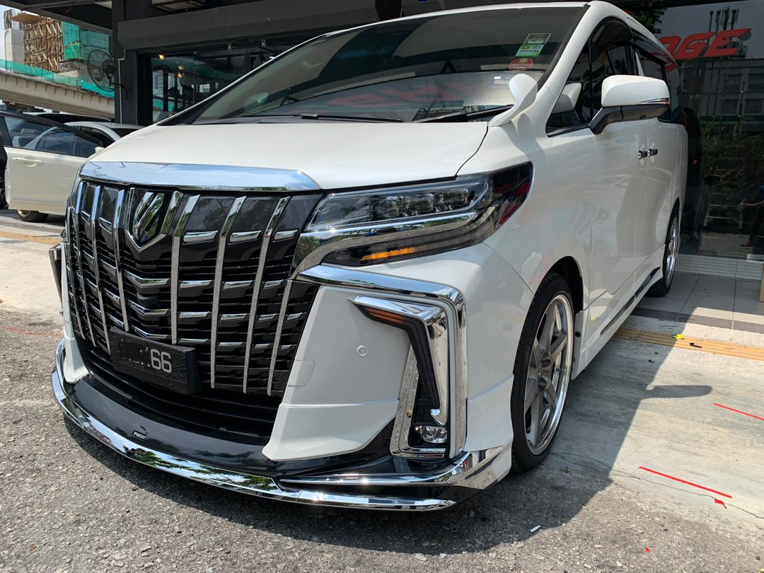 Toyota Alphard AGH30 2018 Modellista Body Kit Skirting Lip With Paint