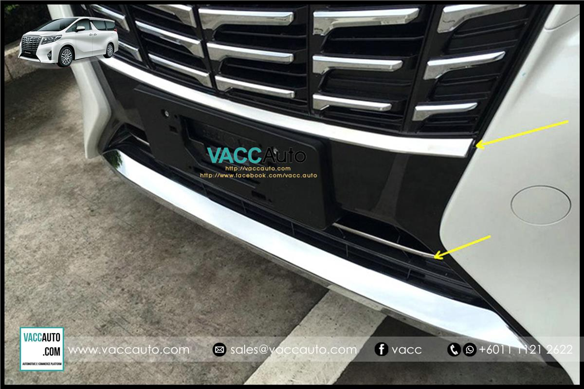 Toyota Alphard (AH30) Front Grill Chrome Lining 2pcs