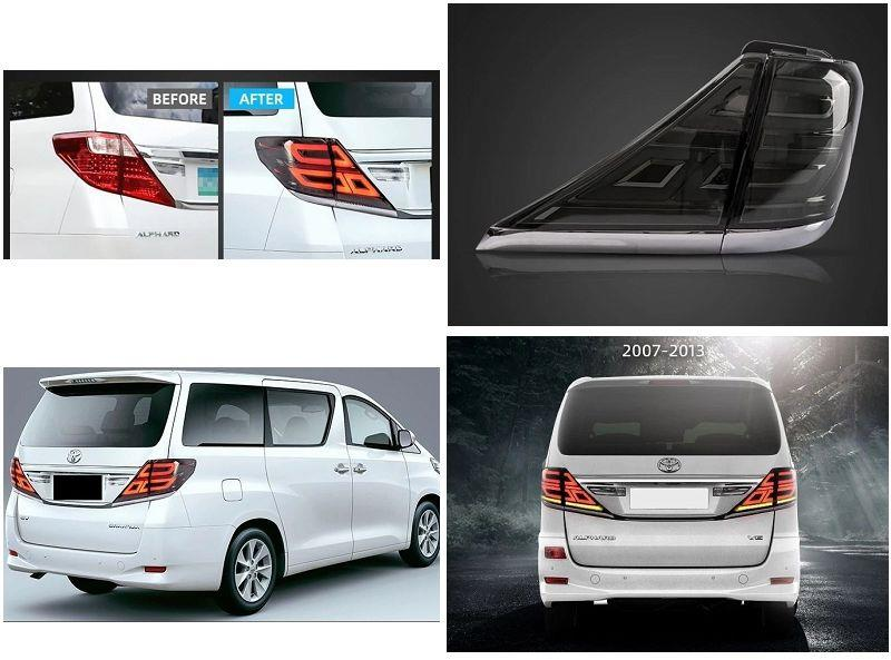 Toyota Alphard Vellfire '08-14 LED Light Bar Tail Lamp Smoke WSRF