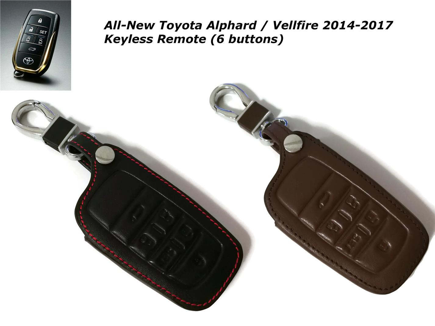 Toyota Alphard Vellfire 2015-2018 Keyless Remote Leather Key Cover