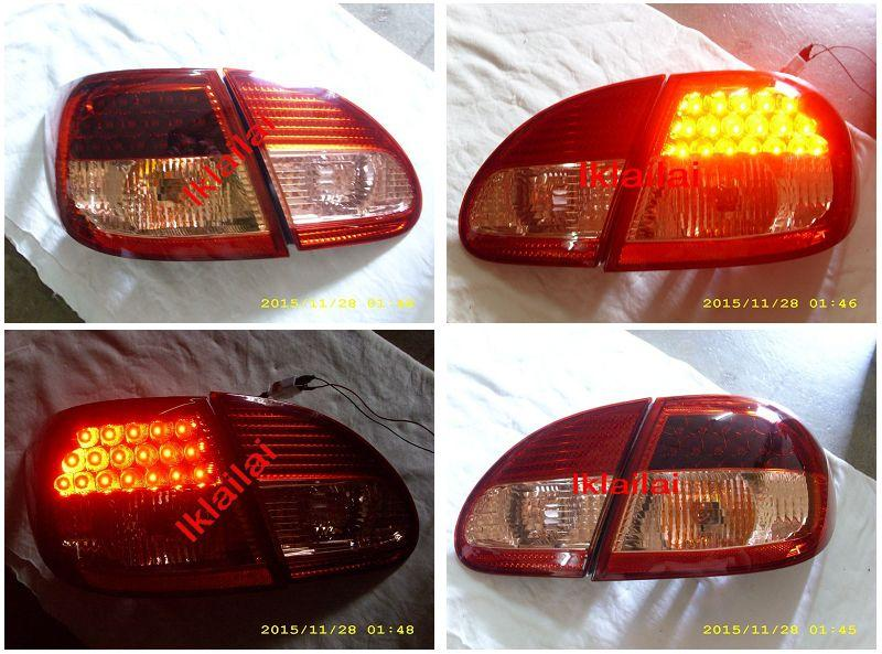 Toyota Altis '01-04 Crystal LED Tail Lamp [Red/Clear]