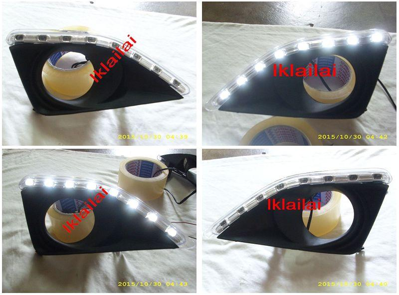 Toyota Altis '08-10 Fog Lamp Cover 16 LED DRL R8