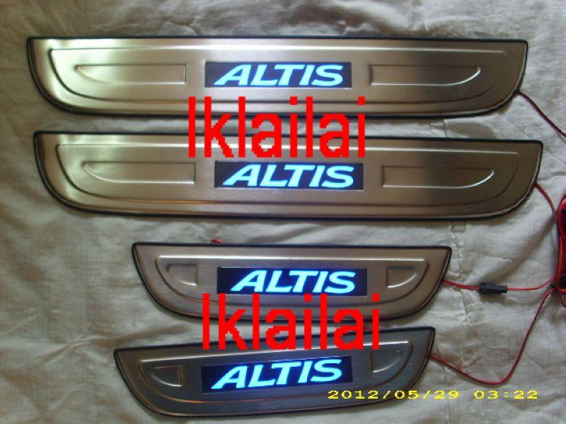 TOYOTA ALTIS '11 Door / Side Sill Plate With LED Light [4pcs/set]