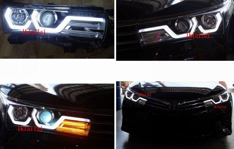TOYOTA ALTIS '14-15 U Style LED DRL Projector Head Lamp