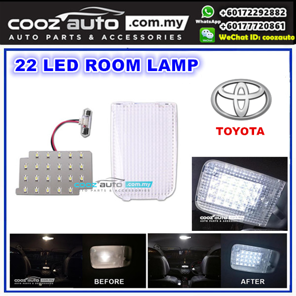 Toyota Avanza 2003 - 2011 Saxo LED Light Room Lamp White With Crystal Cover