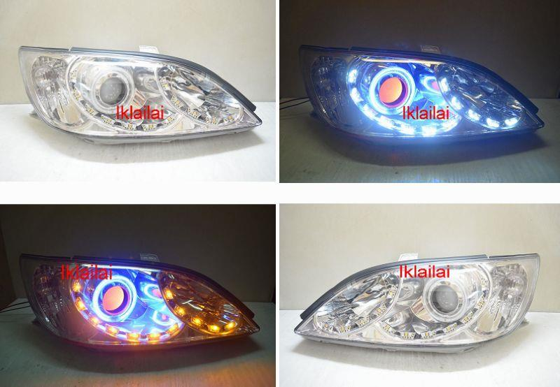 Toyota CAMRY '02-03 C Style CCFL Ring + Angel Eye Projector Head Lamp