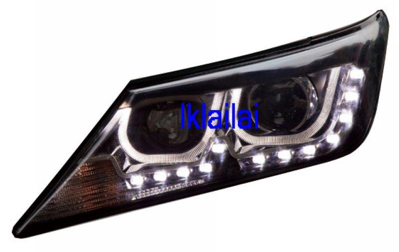 Toyota Camry '12 Projector Head Lamp U-Style DRL + LED R8
