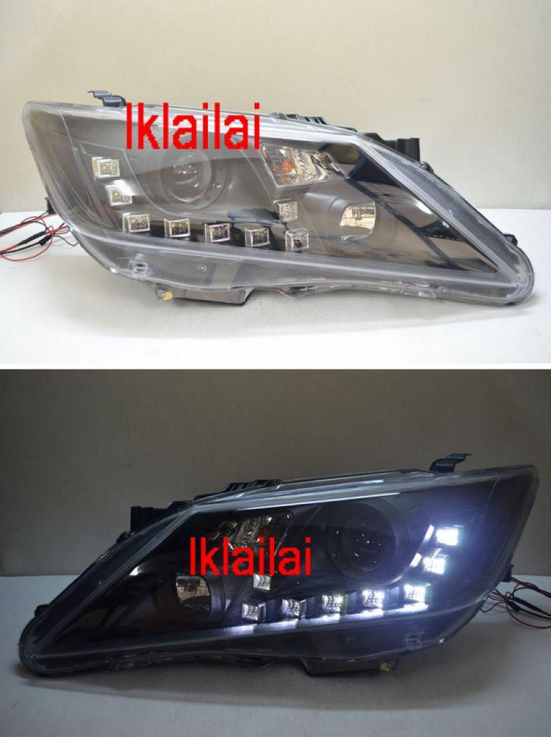 TOYOTA CAMRY '12 R8 DRL Projector Head Lamp [Black Housing]