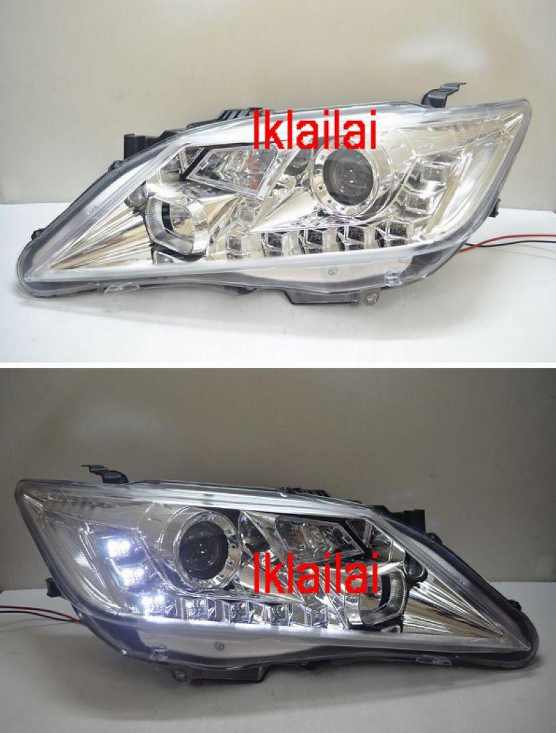 TOYOTA CAMRY '12 R8 DRL Projector Head Lamp [Chrome Housing]